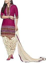 Angel Fashion Studio Women's Cotton Unstitched Dress Material (Purple )