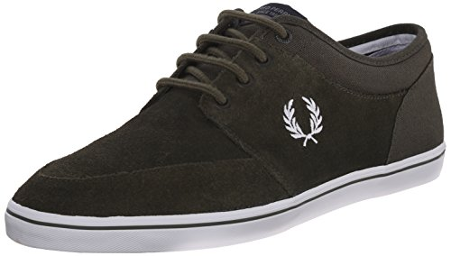 Fred Perry Men's Stratford Suede Fashion Sneaker, Forest