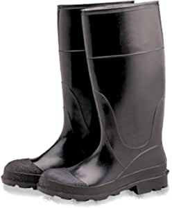 """Industrial 16"""" PVC Rubber Boots, Plain Toe, Over The Sock (Size 11)"""