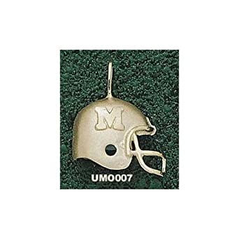 Missouri Tigers M Helmet Pendant - 14KT Gold Jewelry by Logo Art