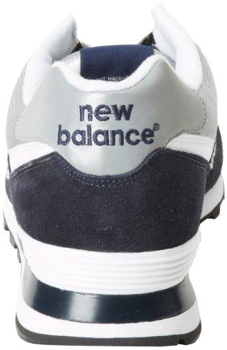 New BalanceNew Balance Men's M574 Classic Running Running Shoe,Navy/Silver,10 2E US
