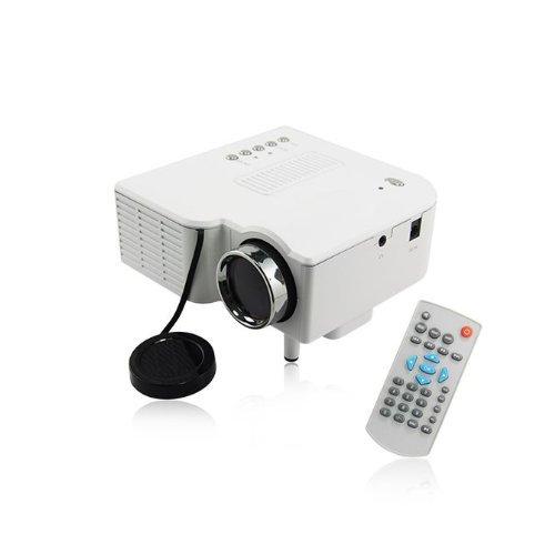 Mini Led Portable Projector 320X240 Av Vga Sd Usb Slot With Remote Control *White