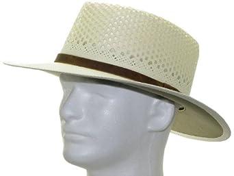 New MONTECARLO AIRWAY Panama Hat WHITE STRAW Golf by ULTRAFINO PANAMA HAT