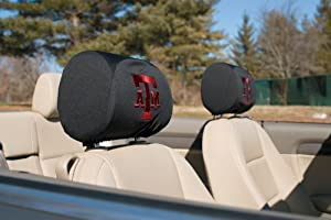 Texas A&M Aggies 2-pack Auto Head Rest Covers Cover Football University of