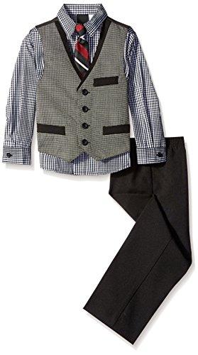 Van Heusen Little Boys Nail Head Vest Set, Black, 4T (Head Suit compare prices)