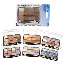 L.A. Colors Expressions, 12 Color Eyeshadow, BEP422 Glamorous, 0.49 Oz