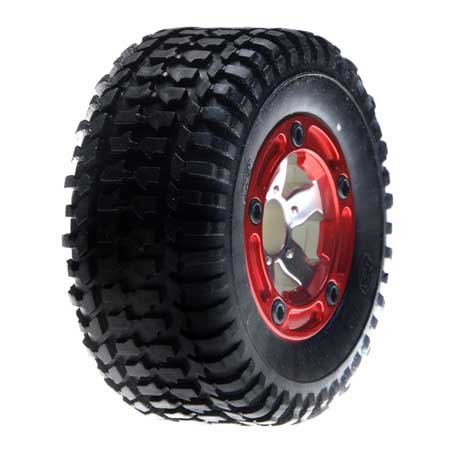 Front Mounted Tire, Chrome (2): MSCT - 1