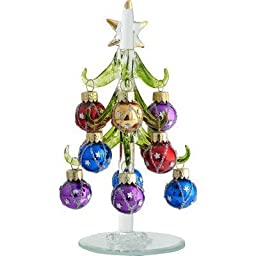 6'' Green Christmas Tree with Star Ornaments Gift Box by LS Arts, Inc.