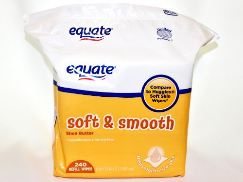 Equate Soft & Smooth Shea Butter Baby Wipes Refill 240 Count - 1