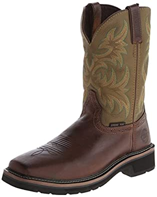 Justin Original Work Men's Stampede Work Boot,Waxy Brown Cowhide,6 D US