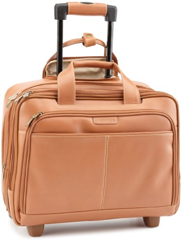 Hartmann Luggage Belting Leather Expandable Mobile Traveler Office,Natural,One Size