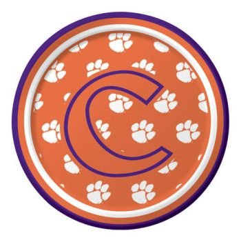 Creative Converting Clemson Tigers Dessert Paper Plates (8 Count) - 1