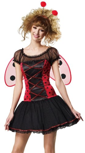 HGM International Sexy Ladybug Corset Outfit Lady Bug Halloween Costume