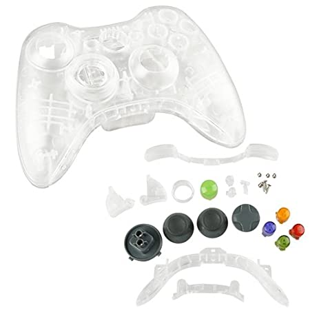 CommonByte CLR Crystal Shell Case for XBOX 360 Wireless Controller