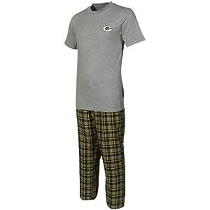 NCAA Green Bay Packers Empire Pajama Set - Gray/Green from Football Fanatics