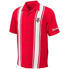 Wisconsin Badgers Mens Passage Camp Shirt by Chiliwear by Chiliwear LLC