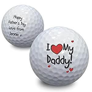 Personalised I Heart My Golf Ball - A Superb Gift For Father's Day, For Dad, Birthday, For Grandad - Personalised & Unique