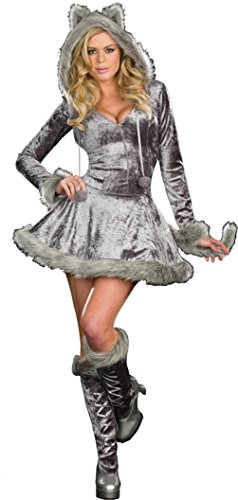 Dreamgirl Womens Big Bad Sexy Wolf Hooded Fairytale Outfit Fancy Costume