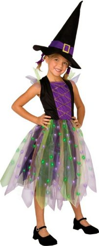 Palamon Light-Up Rainbow Witch Child Costume Black/Purple Small