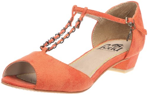 Feud Britannia Women's Beckie Orange Vintage Open Toe Flats 203026046 8 UK
