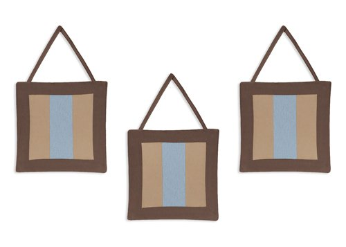 Sweet Jojo Designs Wall Hanging - Soho Blue and Brown