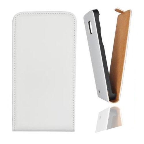 Flip Case Tasche Hülle Etui Handytasche SLIM in weiss für Samsung Galaxy Mega 6.3 GT-i9200 / GT-i9205 inkl. World-of-Technik Touchpen
