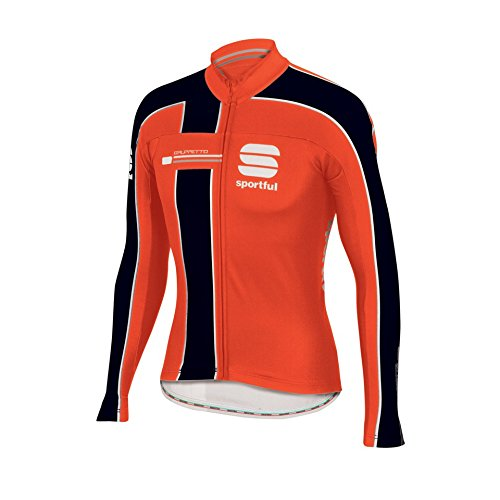Sportful Maglia Gruppetto Thermal Jersey, Red Fire/Black (L)
