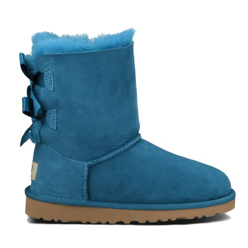 UGG Australia Children's Bailey Bow Little Kids Suede Boots,Peacock Feather,US 13 Child US