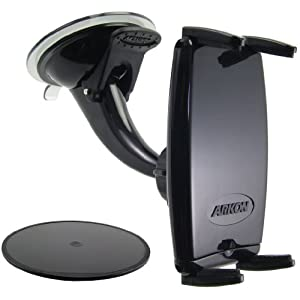Arkon IPM515 Windshield/Dashboard Mount with Slim-Grip Phone Holder–Compatible with iPhone 4