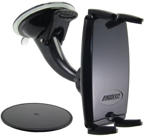 Arkon IPM515 Windshield/Dashboard Mount with Slim-Grip Phone Holder--Compatible with iPhone 4