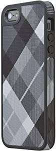Speck Products FabShell Fabric-Covered Case for iPhone 5 & 5S - Retail Packaging - MegaPlaid Black