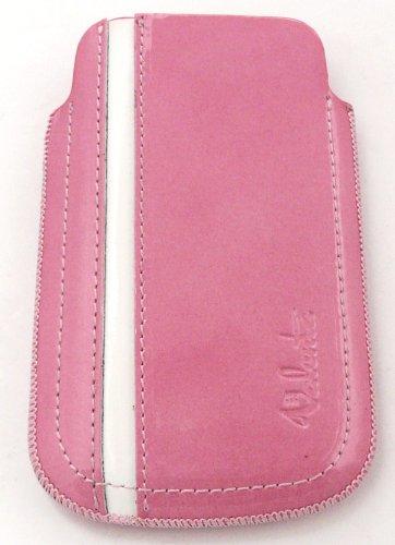 Ursprüngliche Valenta Sportline Echtes Leder Rosa Slide In Case / Cover Retail Pack geeignet für Nokia Lumia 610