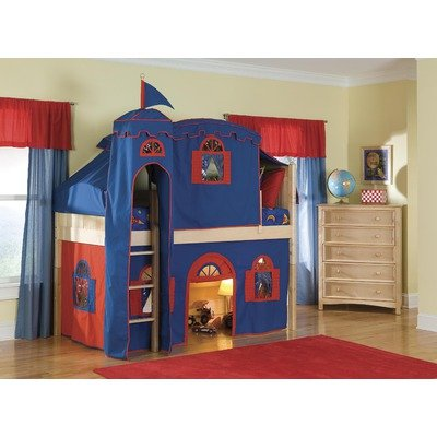 Low Loft Bed With Storage 5781 front