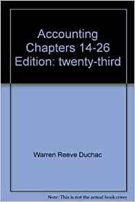 Accounting 23rd Edition Warren Reeve Duchac