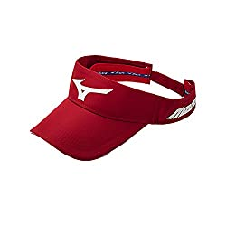 Mizuno Men's Mizuno Sonic Visor, Adjustable, Red