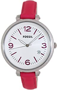 Fossil Heather Three Hand Leather Watch – Pink Es3277