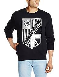 U.S.Polo.Assn. Men's Cotton Sweatshirt (8907259138435_USSS0495_XL_Black)