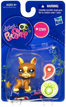Picture of Hasbro Littlest Pet Shop Get The Pets Single Figure Boston Terrier With Steak (B0041S5IEA) (Hasbro Action Figures)