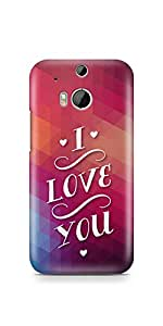 Casenation I Love You Vibrant HTC One M8 Glossy Case