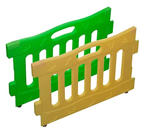 Baby Diego Playspot Playard Panel Extension Set, Yellow and Green - 1