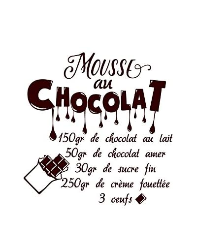 Ambiance-sticker Vinile Decorativo French Recipe Mousse Au Chocolat