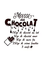 ZZ-Ambiance-sticker Vinilo Decorativo French Recipe Mousse Au Chocolat