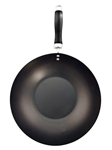 how to clean a burnt carbon steel wok