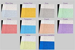 IRLEN Colored Overlays for Reading - Sample Pack of 10 (1 of Each Color)
