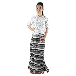 ShopMore Long Skirt(White_Free-Size)