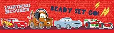Cars Junior Junction Wallpaper Border - Red