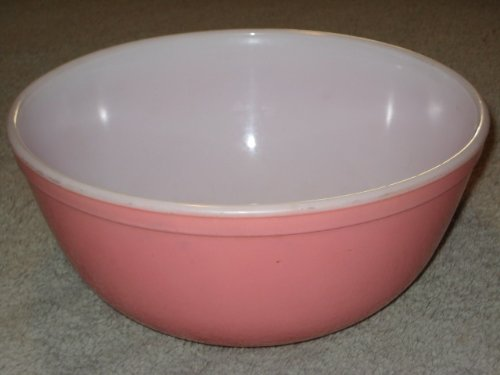 Vintage 1956 Pyrex PINK 2 1/2 Quart Mixing Nesting Batter Bowl #403 Made In USA