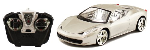 Electric 1:18 Full Function Ferrari 458 Italia Challenge Series RTR RC Car Remote Control Wheel Lights (Colors May Vary)