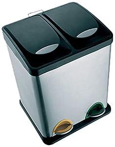 Msv cubo de basura con 2 compartimentos hogar - Poubelle cuisine tri selectif 2 bacs ...