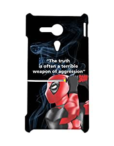Mobifry Back case cover for Sony Xperia SP Mobile ( Printed design)